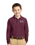 ACCE Youth Long Sleeve Value Polo (Embroidered)