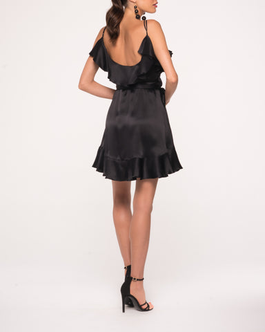 Luna Silk Ruffle Dress