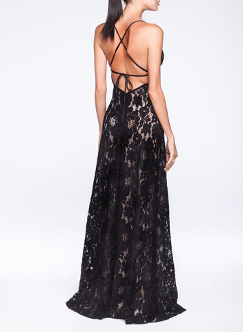 Lorenza Long Dress Black