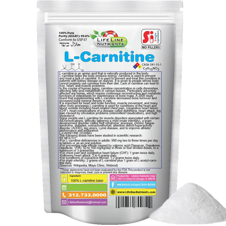 L-Carnitine Base Powder - Free Shipping