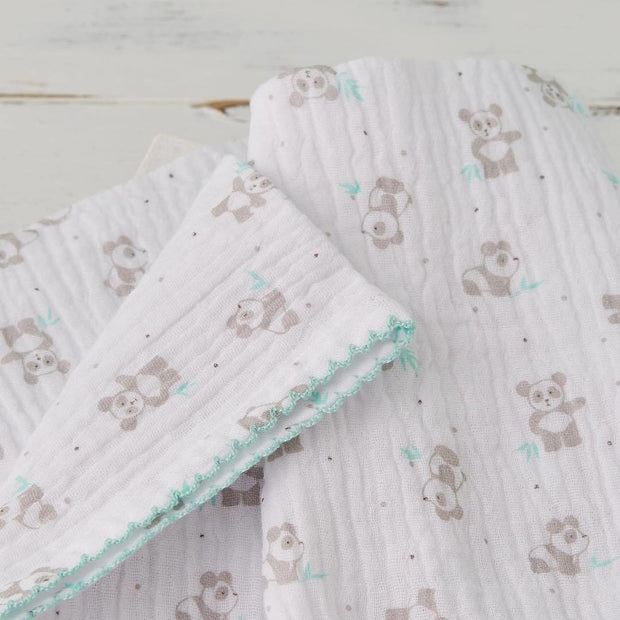 Panda Print | Quilted Organic Cotton Blanket - Buffalo & Bear