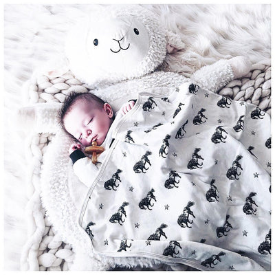 Mustang Print | Organic Cotton Swaddle Blanket