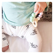 Rabbit Print | Organic Cotton Leggings