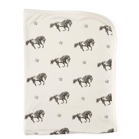 Mustang Print | Organic Cotton Swaddle Blanket - Buffalo & Bear