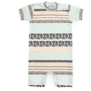 Aztec Print | Short Sleeve Organic Cotton Romper - Buffalo & Bear