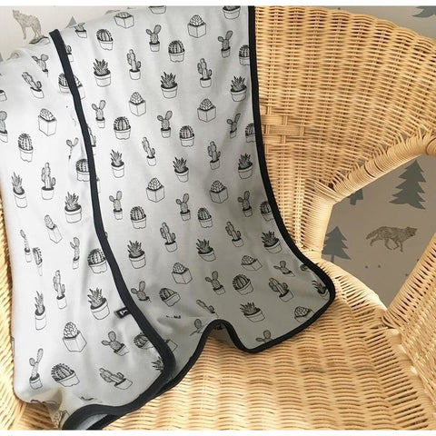 Cactus Print | Organic Cotton Swaddle Blanket - Buffalo & Bear
