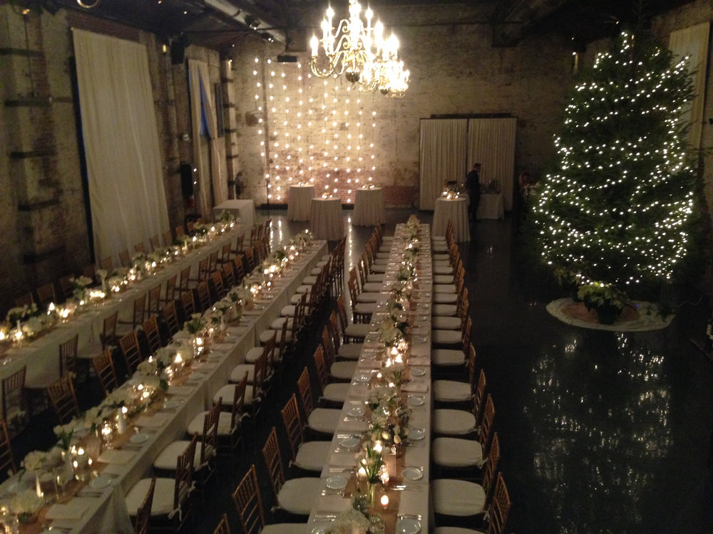 Romantic Vintage Winter Wedding Brooklyn Green Building by Anissa Rae Flowers