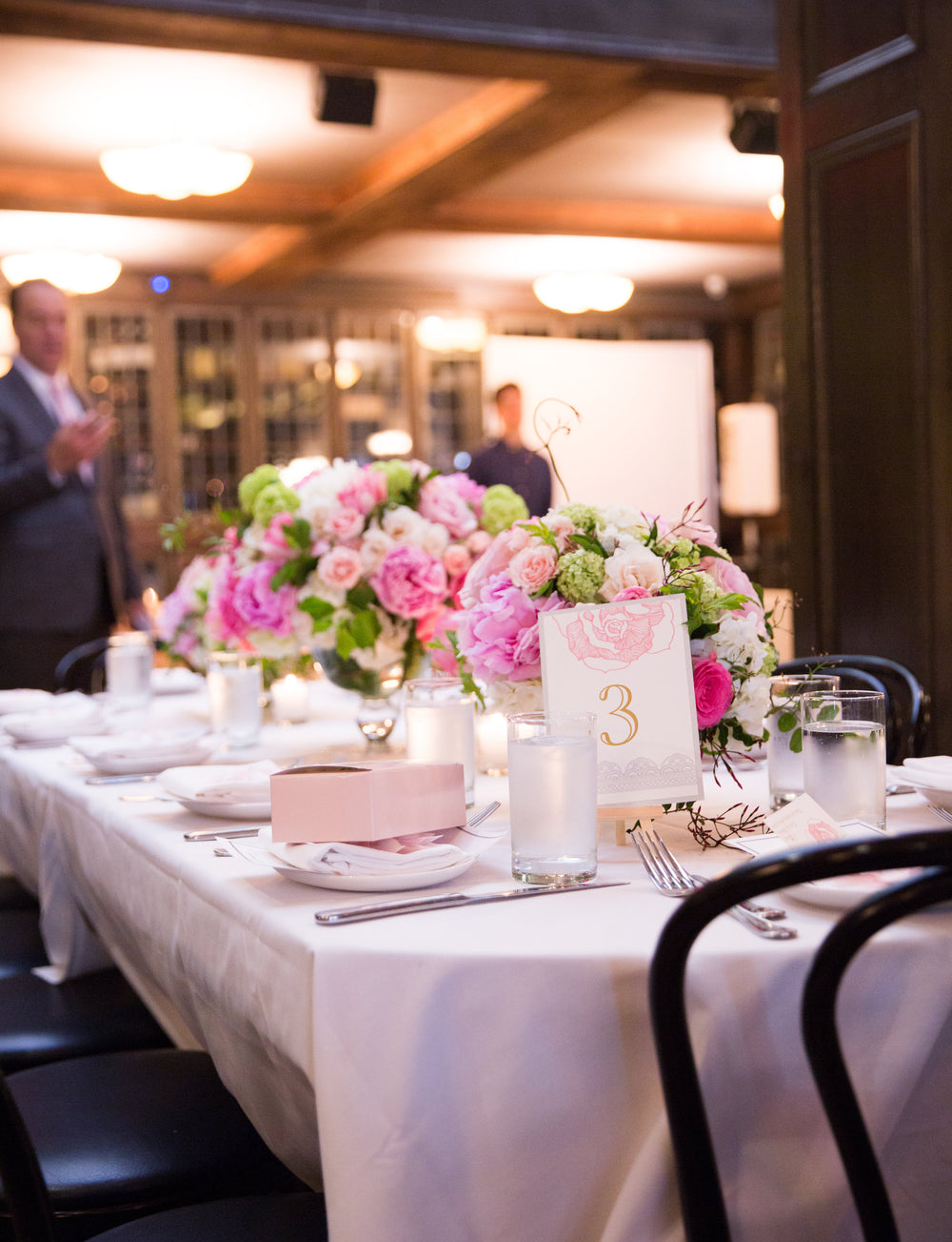 Pink Floral Centerpieces Arlington Club Baby Christening Party Anissa Rae Flowers Florist