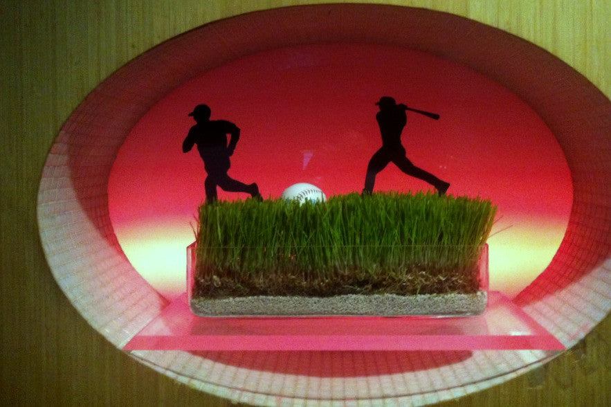 Custom Baseball Centerpieces Celebrity Event by Anissa Rae Flowers
