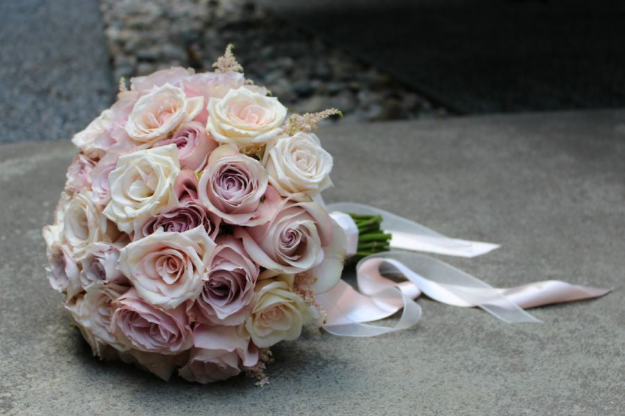 Classic Antique Rose Bridal Bouquet for NYC Weddings Anissa Rae Flowers