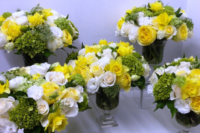 Spring Daffodil Centerpieces for Special Events NYC Best florist Anissa Rae Flowers