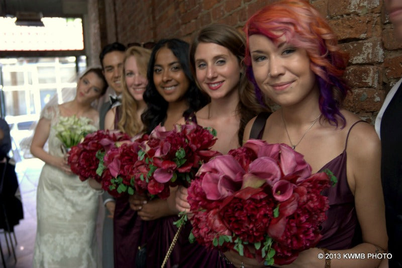 Hot Pink and Fuchsia Bridesmaid Bouquets Summer Wedding Anissa Rae Flowers