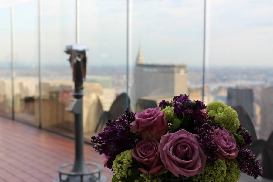 Top of the Rock Flowers by NYC Florist Anissa Rae Flowers
