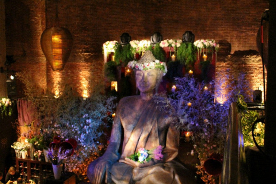 Annual TAO Midtown Midsummer Party Flower Design by Anissa Rae Flowers