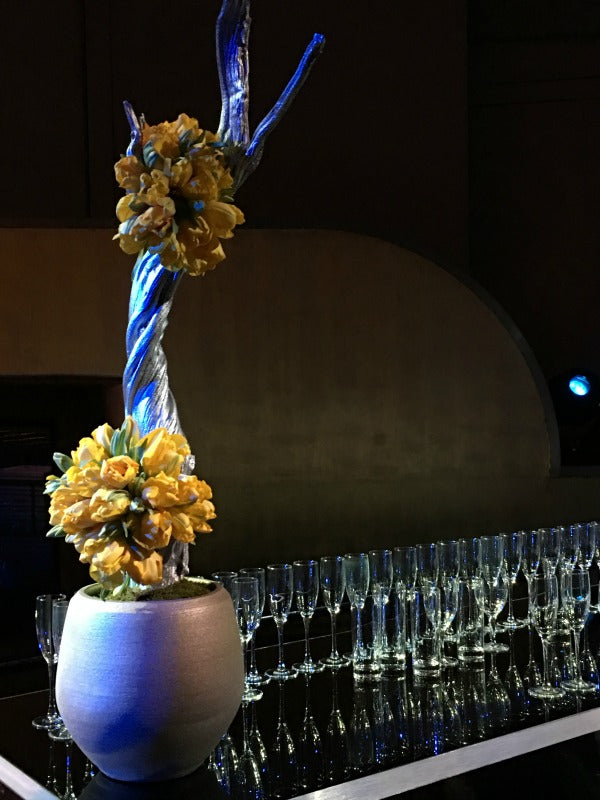 Sculptural Bar Arrangement Radio City Music Hall by Anissa Rae Flowers