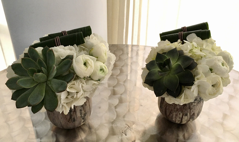 Flowers and Succulent Centerpieces Anissa Rae Flowers Manhattan Florist