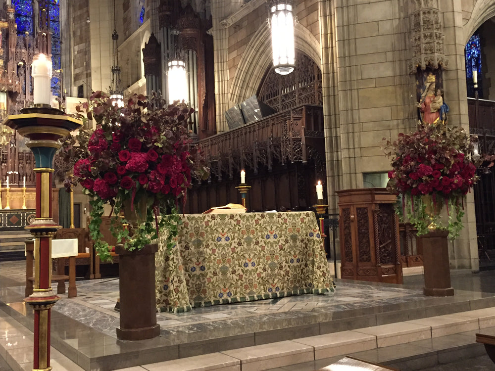 St Vincent Ferrer church nyc wedding florist Anissa Rae Flowers