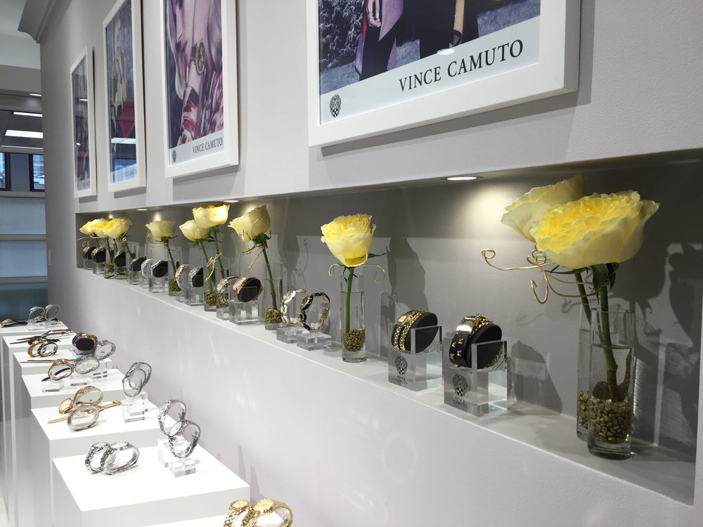 NYC Market Week Flowers for Jewelry Showroom by Anissa Rae Flowers