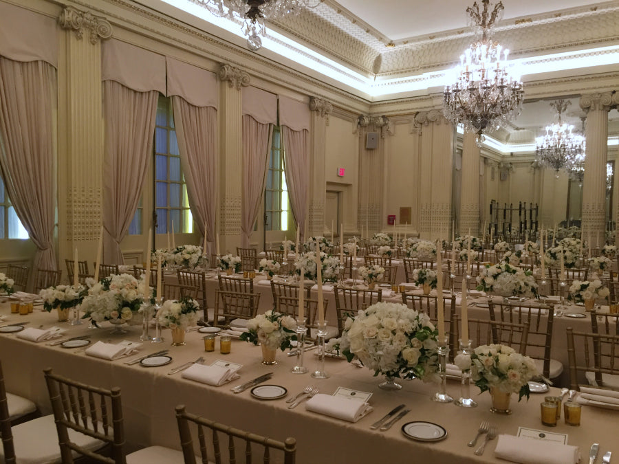 Anniversary Wedding Celebration Long Table Centerpieces by Anissa Rae Flowers Lotos Club