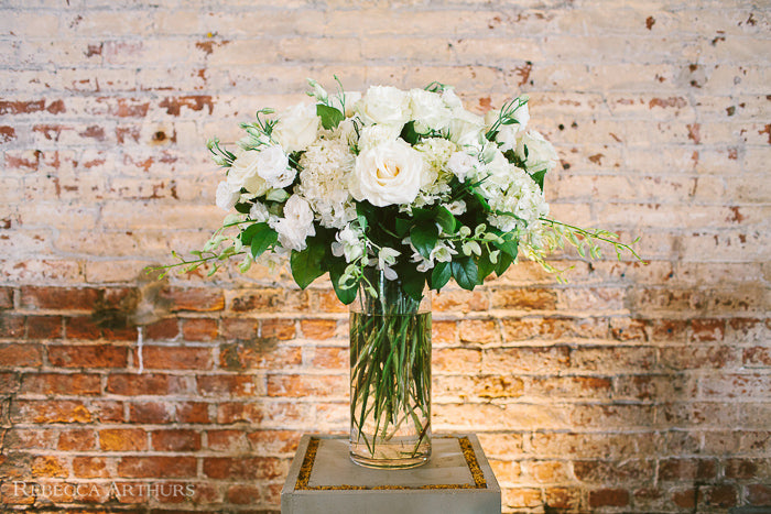 Brooklyn Green Building Wedding Saya and Danny creative wedding florist Anissa Rae Flowers