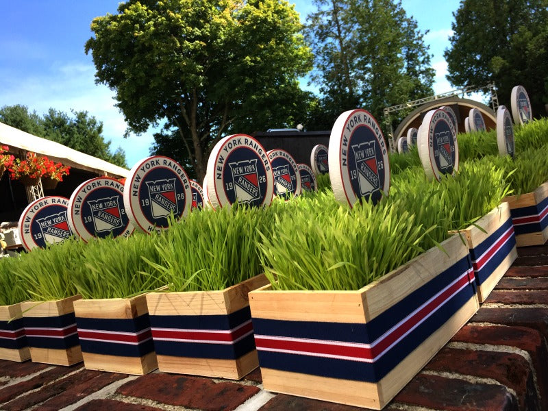 NY Rangers Wheatgrass Event Centerpieces