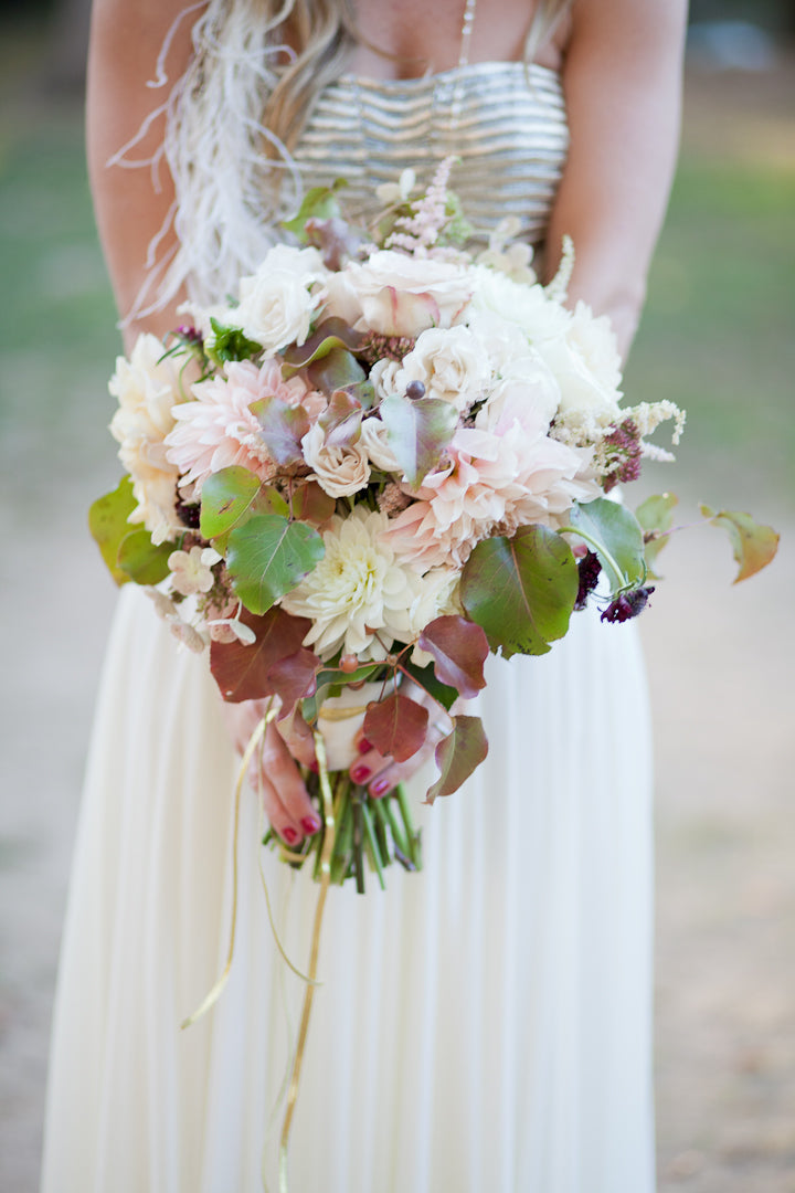 Bohemian Wedding Inspired Bridal Bouquet Central Park NYC By Anissa Rae Flowers