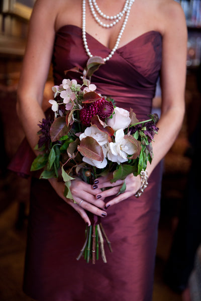 Bridesmaid Boho Chic Bouquet October Wedding
