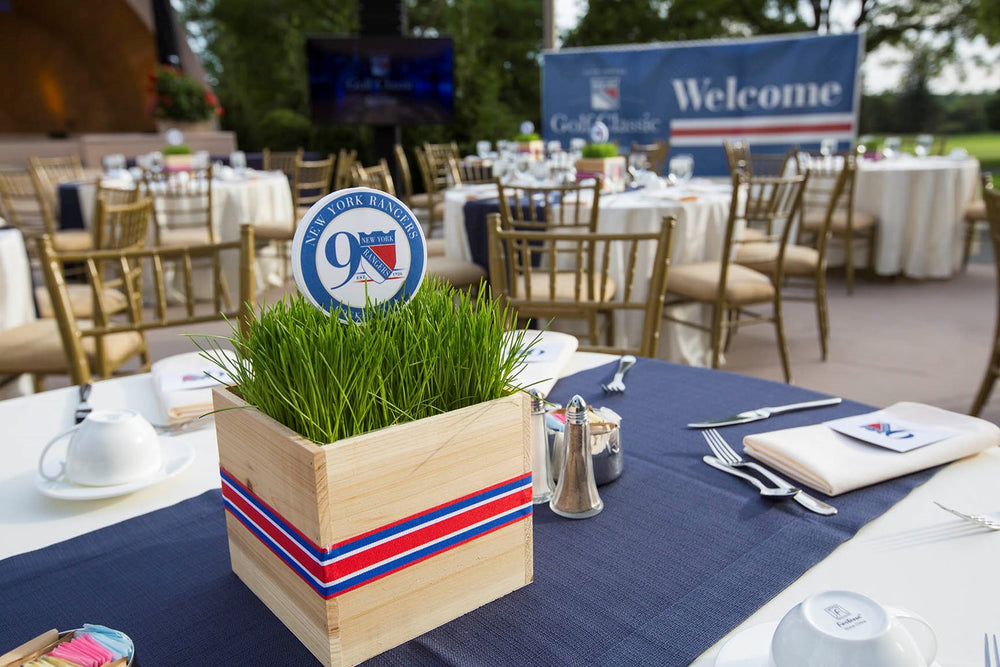 Custom NY Rangers Event Centerpieces for Golf Outing by Anissa Rae Flowers