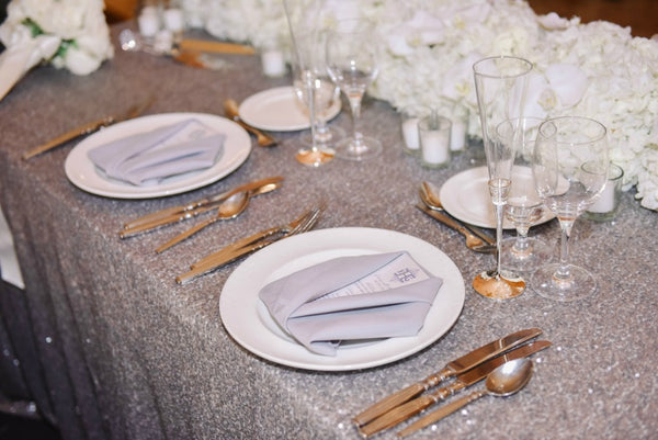 Suit Folded Napkins Wedding Details Anissa Rae Flowers NYC