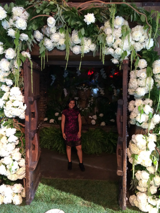 Flower Arch by Anissa Rae Flowers TAO Midtown NYC