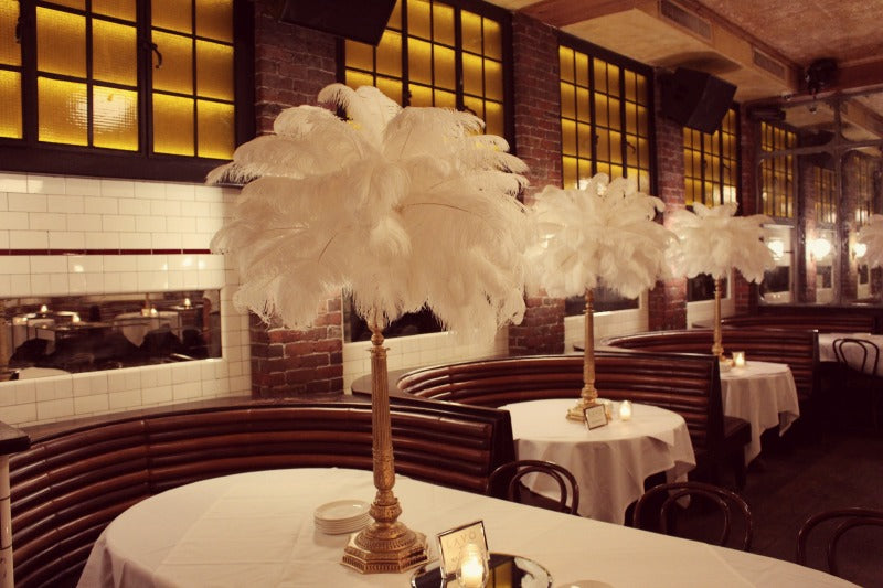 Tall Custom Luxury Feather Centerpieces for Events by Anissa Rae Flowers