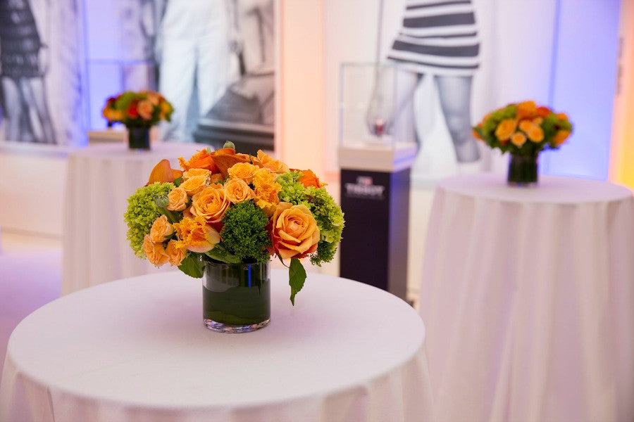 Tissot Watch Special Event Floral Centerpieces Anissa Rae Flowers NYC