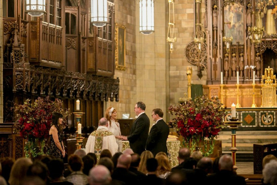 Fall Wedding Florist Vincent St Ferrer Church NYC Anissa Rae Flowers