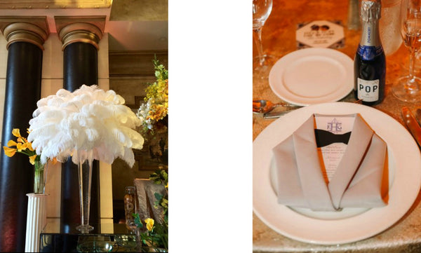 Wedding Details for Gatsby Inspired Wedding Anissa Rae Flowers Wedding Florist NYC