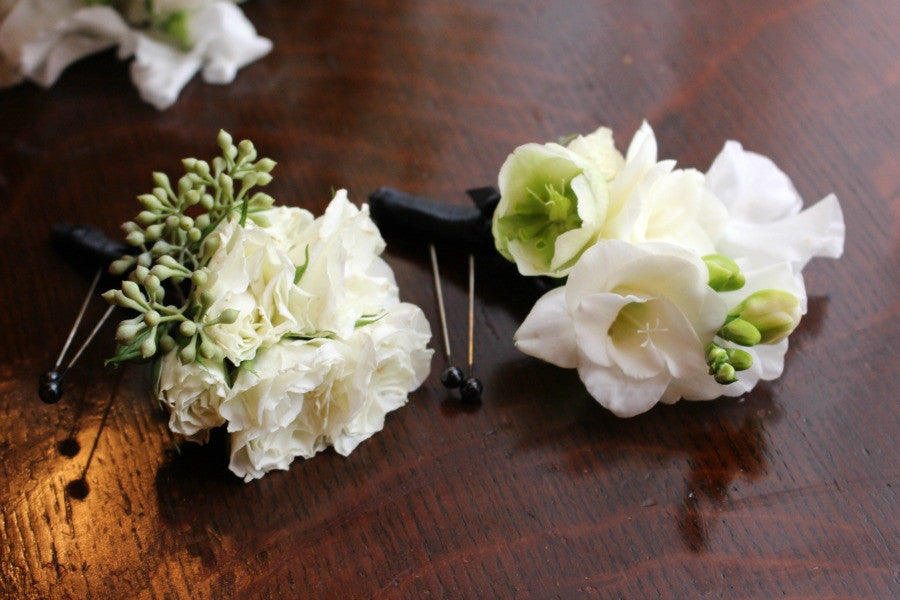 Wedding Groom Boutonnieres by Anissa Rae Flowers