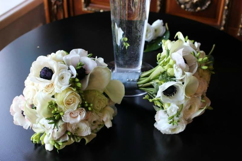 Anemone Flower Bouquet for Same Sex Wedding by NYC Floral Designer Anissa Rae Flowers