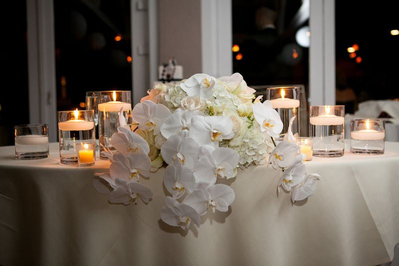 Wedding Sweetheart Table flowers by Anissa Rae Flowers