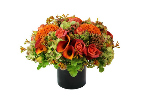Autumn inspired flower arrangement NYC florist