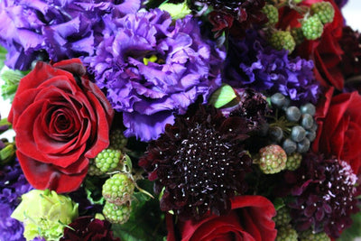 Vibrant seasonal hand tied flower bouquet