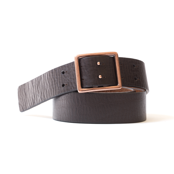 Slider Buckle Leather Belt