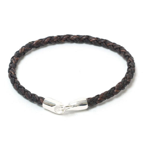 Unique Braided Leather with Silver Hook