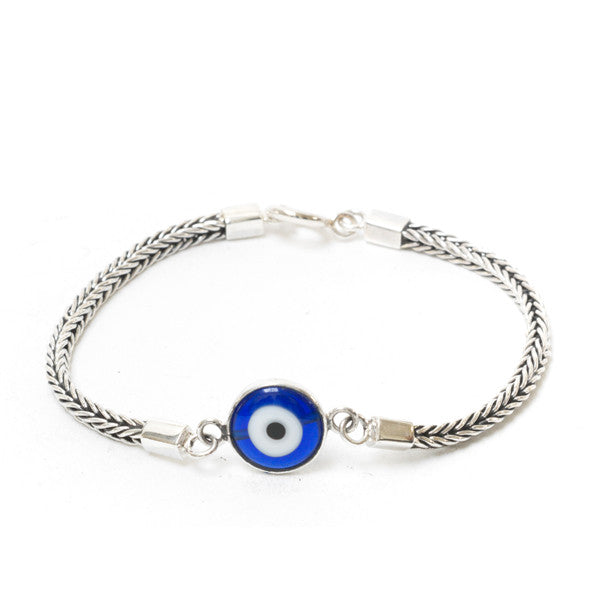blue product shop evil bracelet with original gold eye