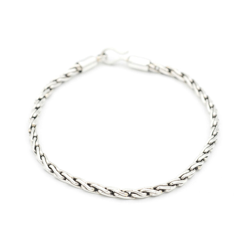 Silver Chain Rope Bracelet
