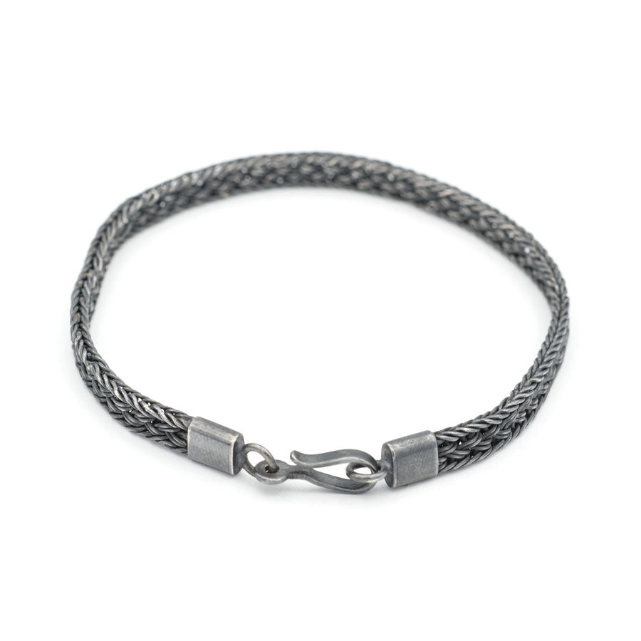of copy braided woven products mens heart artisan solid bracelet sterling celtic tribal silver chain