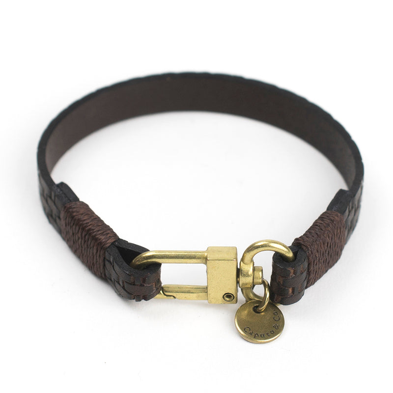 Embossed Leather Bracelet