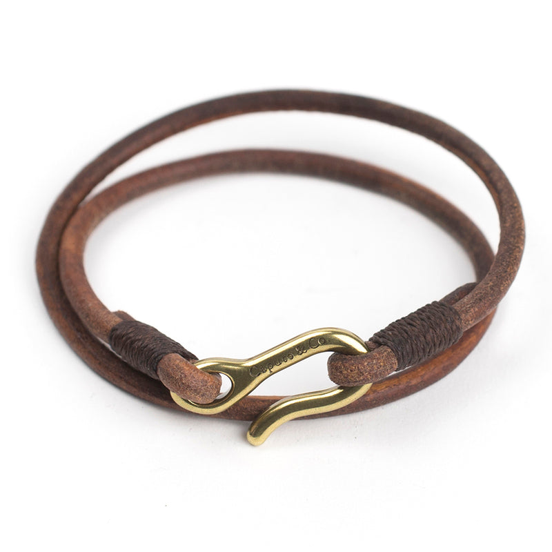 Leather Cord Double Wrap