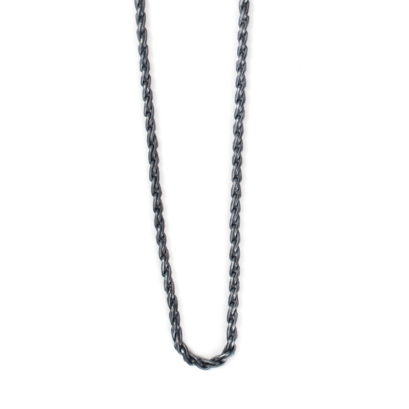 Silver Chain Rope Necklace