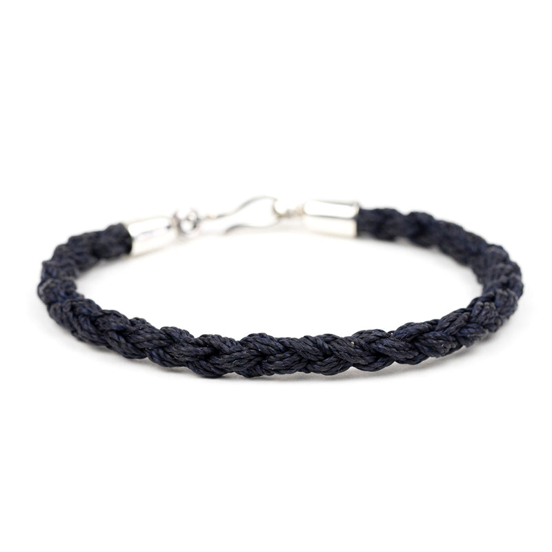 Hand-braided Waxed Cord Bracelet