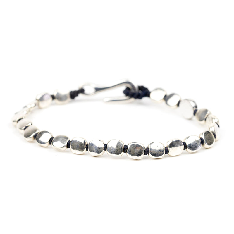 Hand-knotted Silver Bracelet