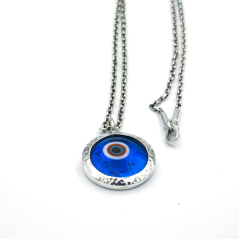 Evil Eye Murano Glass Pendant Necklace